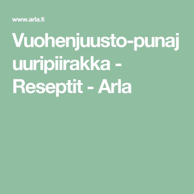 Vuohenjuusto-punajuuripiirakka - Reseptit - Arla