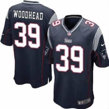 e467ef5b7 ... New Youth Blue NIKE Game New England Patriots 39 Danny Woodhead Team  Color NFL Jersey ...