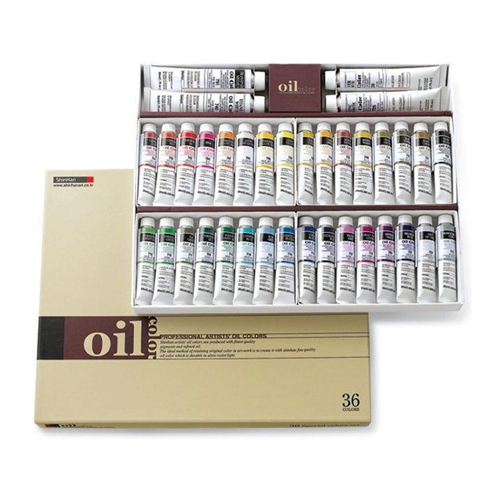 Oil Color Paint Set Shinhan Professional 36 Colors 20ml Tube Artist Drawing #Shinhan