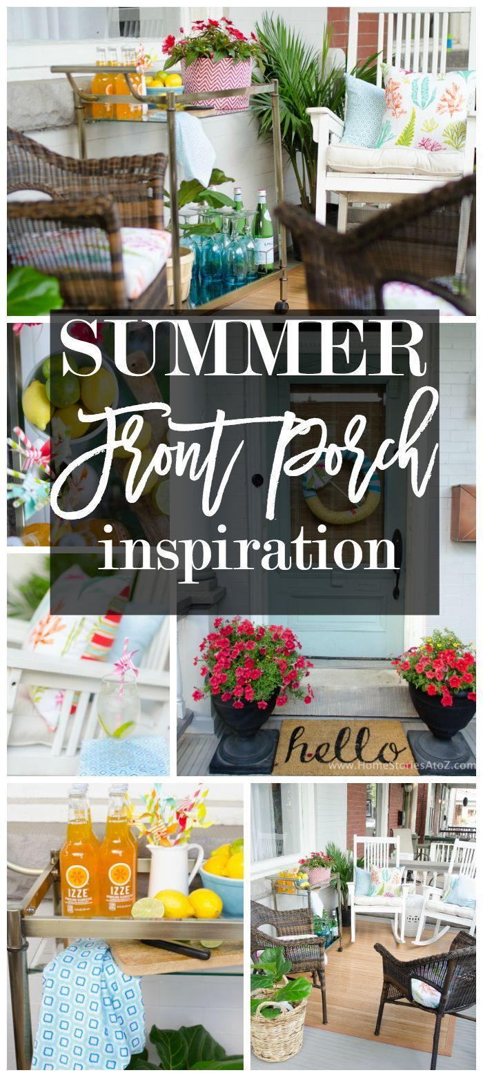 Outdoor curtains for porch and patio designs 22 summer decorating - Summer Porch With Waverly Inspirations Summer Decoratingporch Decoratingporch Ideaspatio Ideasbackyard Ideasoutdoor