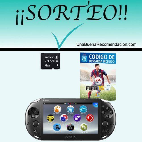Sorteo Consola Ps Vita Slim + Fifa 15 + Tarjeta De Memoria De 4 Gb  http://www.unabuenarecomendacion.com/index.php/sorteos/5673-sorteo-consola-ps-vita-slim--fifa-15--tarjeta-de-memoria-4gb
