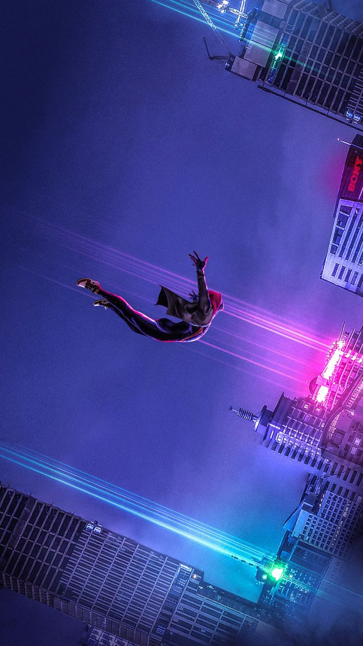 Spider Dive Movie Artwork Spider Man Into The Spider Verse