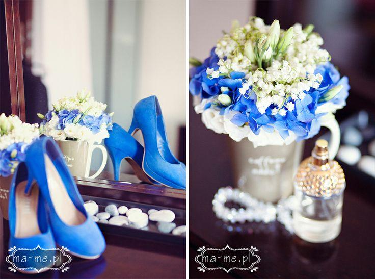 Konwalie i niebieska hortensja/ Lily of the Valley and blue hydrangea