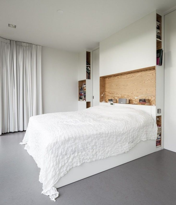 Architectural Built-in Storage, Villa V by Paul de Ruiter, Photo by Tim Van de Velde, Plywood | Remodelista