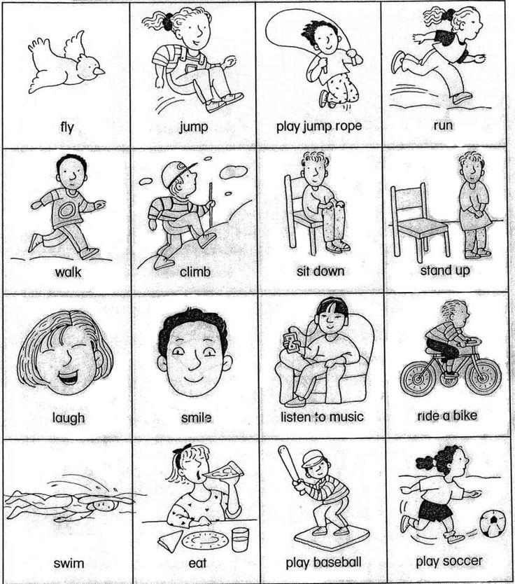 Schede di inglese per la scuola primaria - Scheda sui verbi