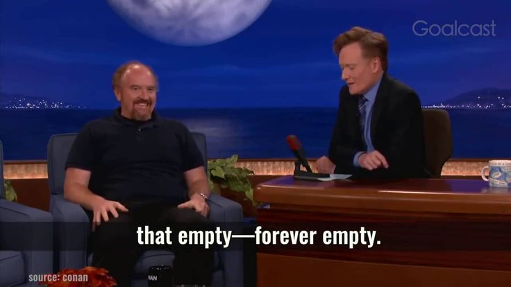 "Louis CK with a powerful example of what I mean when I talk positive existentialism. Stop trying to avoid all the shit that life throws at you. Stop trying to suppress everything that feels ""bad"". It'll always come back, usually stronger than before. Instead start embracing these feelings as part of being human. If you never felt sad, you wouldn't be able to appreciate happiness. There's a spectrum of what we're going through in life and we can't have one without the other…"