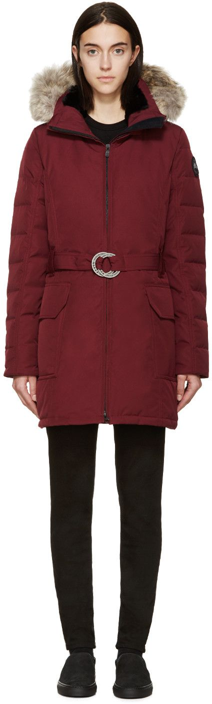 Canada Goose Red Down Black Label Hazelton Coat