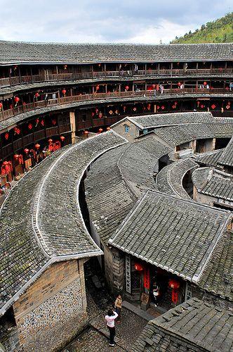 福建土楼 福建 土楼 Fujian Tulou Earthen House