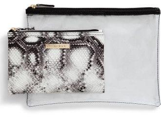 David Jones Beauty 2 Piece Cosmetic Bag Set
