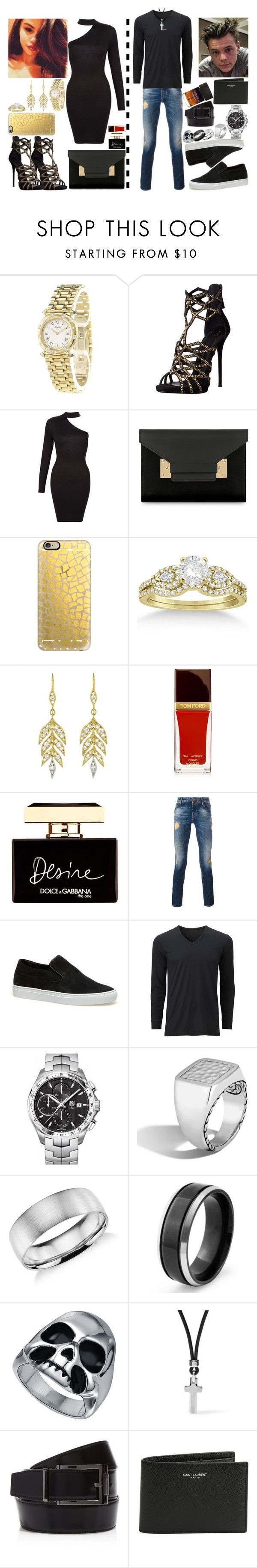 """""""Harlena At Wild Night Out(Harry Styles&Selena Gomez)"""" by ludya ❤ liked on Polyvore featuring Chopard, Giuseppe Zanotti, Sophie Hulme, Casetify, Allurez, Cathy Waterman, Dolce&Gabbana, Jacob Cohёn, Lacoste and Uniqlo"""