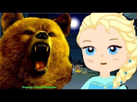 Monster Bear Eats Elsa Forest Night Joker Spiderman Animation Toys Cartoon Video Funny Toyo Surprise - YouTube