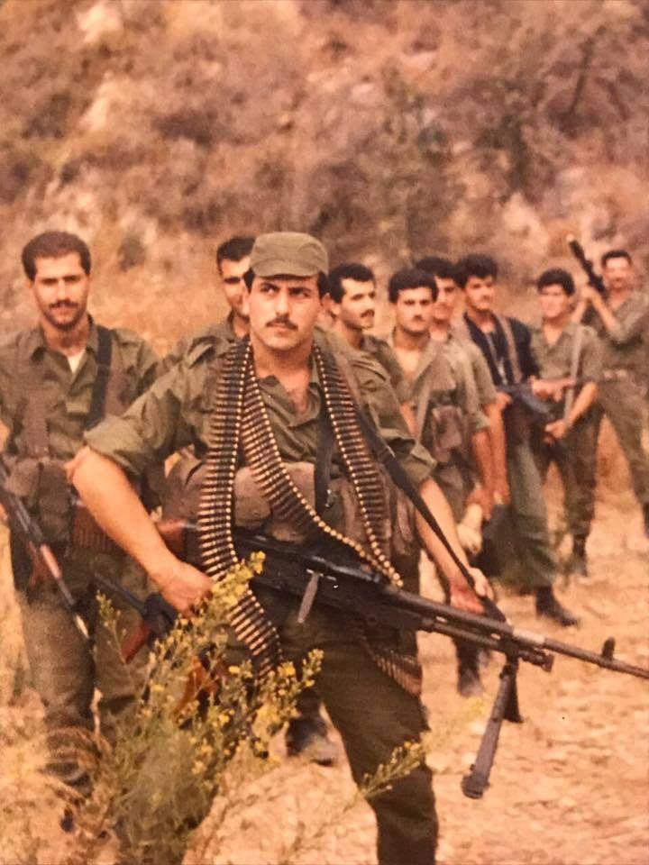 Lebanese Forces. FN MAG. Christian resistance