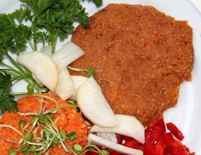 Gitta nyersétel blogja: Kesuhús sárgarépa rizzsel, kápia paprikával, petre...