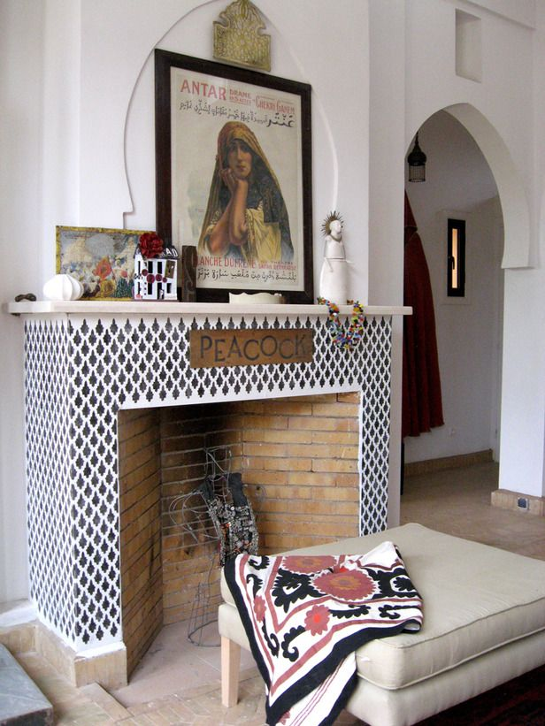 Moroccan Decor Ideas For Home Fireplaces White