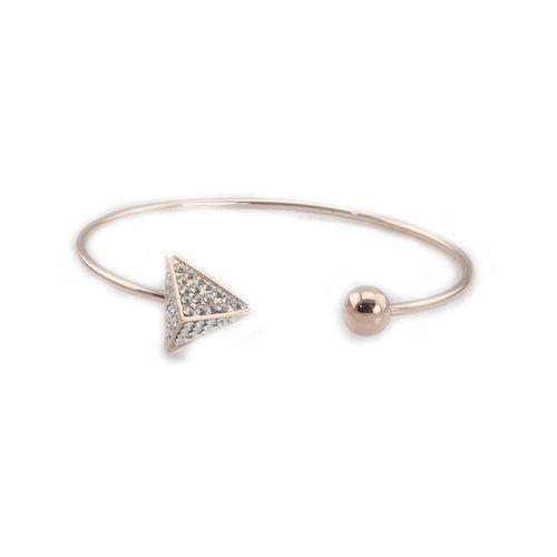 Czech Crystal Spike 14K Rose Gold Bracelet | @t+j Designs