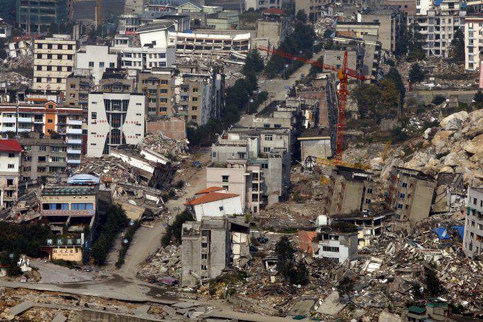 3) Het verhaal speelt zich af in een stad die getroffen is door een aardbeving, later trekken de honden naar de heuvels om te overleven.