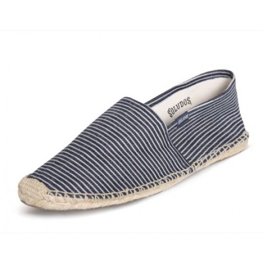 Denim Stripe - Navy White Espadrilles for Men from Soludos. Find this Pin and  more ...