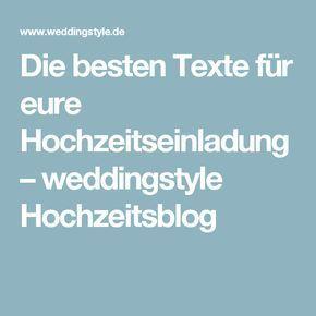 Einladung Hochzeit Text: Moderne Mustertexte