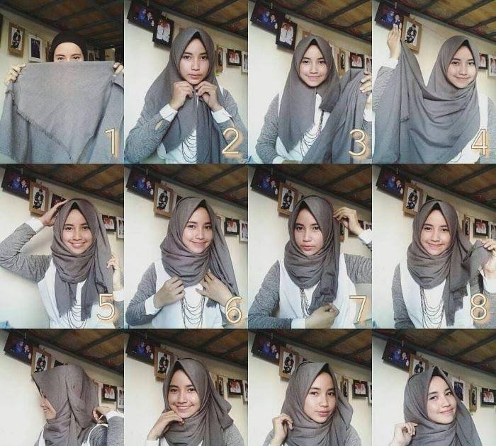 Gambar Jilbab Pashmina Rawis 50 Kreasi Model Hijab Simpel Dan Tutorial Pemakaiannya Download Jilbab Segiempat Jumbo Home Face Di 2020 Hijab Chic Gaya Hijab Gambar