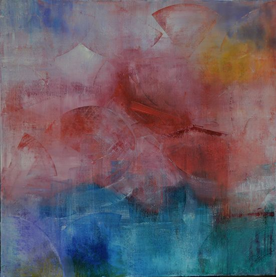"'Bolt' by Uxbridge Ontario painter Carolyn Bather. 48"" x 48"" acrylic on canvas…"