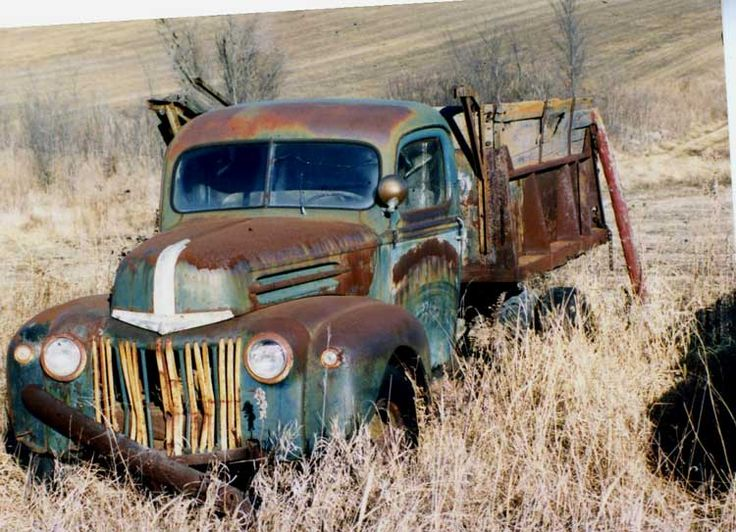 Just something about these old abandoned trucks.