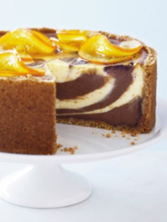 Marbled Jaffa Cheesecake | How Sweet It Is | Pinterest