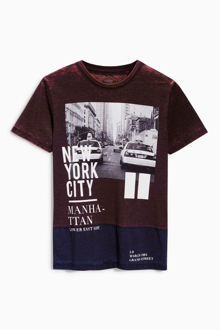 Acheter t shirt graphique effet coup cousu et d vor en ligne sur next men summeruk onlinegraphic