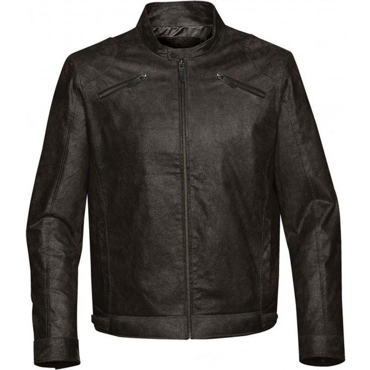Stormtech Men's Brown Rogue Leather Jacket