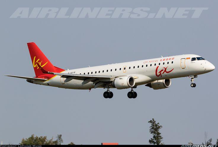 Embraer 190LR, GX Airlines, B-3215, cn 19000591. Haikou, China, 13.2.2016.