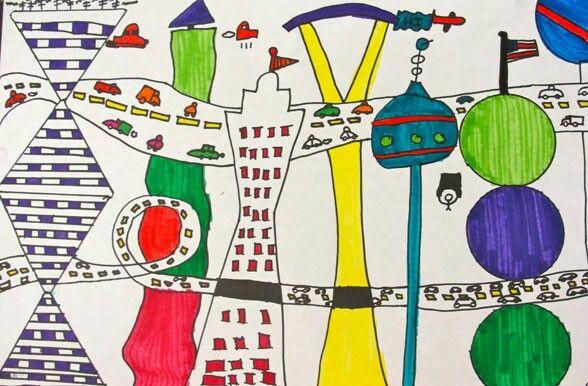 Line Art Grade 2 : Best fifth grade art lessons images on pinterest deep