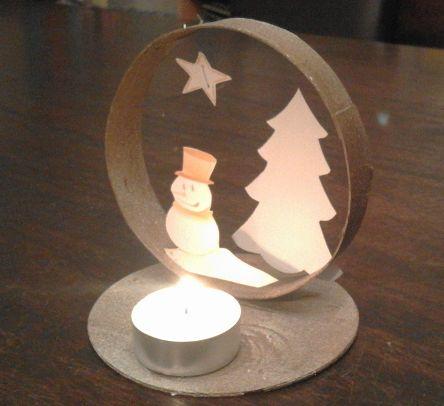 Petit paysage de Noël - boite camembert