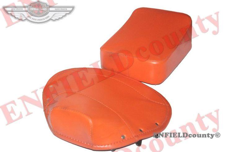 PAIR FRONT REAR ORANGE SEAT COVER VESPA SATTEL SITZKISSEN SET VBB/SUPER/PX/RALL