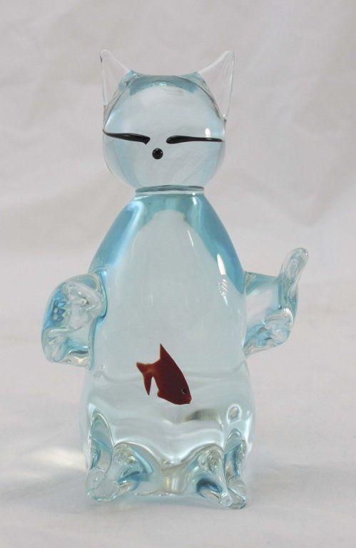 Murano glass cat aquarium with a fish in the belly: Cat Fish, Cat 3D, Murano Aquarium, Glasses Cat, Aquarium Design, Classy Glasses, Cat Aquarium, Fish Two, Aquarium Fish Tanks
