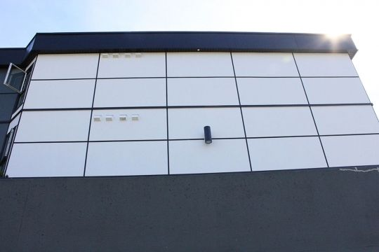 Black anodized EasyTrim Reveals aluminum trims are the only finish available that perfectly capture the horizontal and vertical lines of an architects drawings on paper and recreates them in full on an actual building without washing out or disappearing completely. #EasyTrimRevealsWhoWeAre