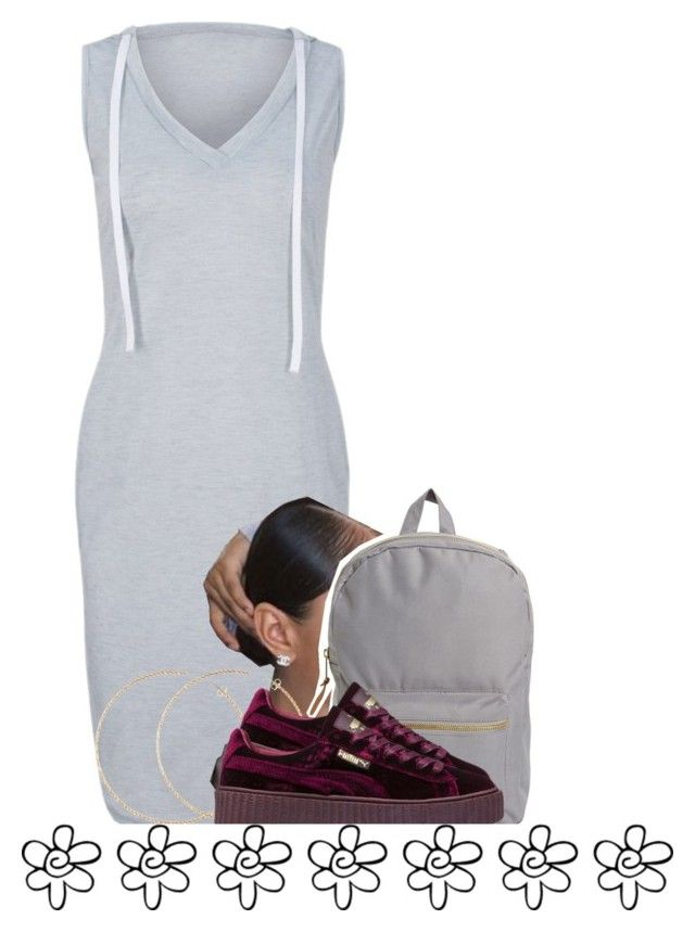 """""""1/22"""" by trillgolddfashionn ❤ liked on Polyvore featuring Herschel Supply Co., H&M and Puma"""