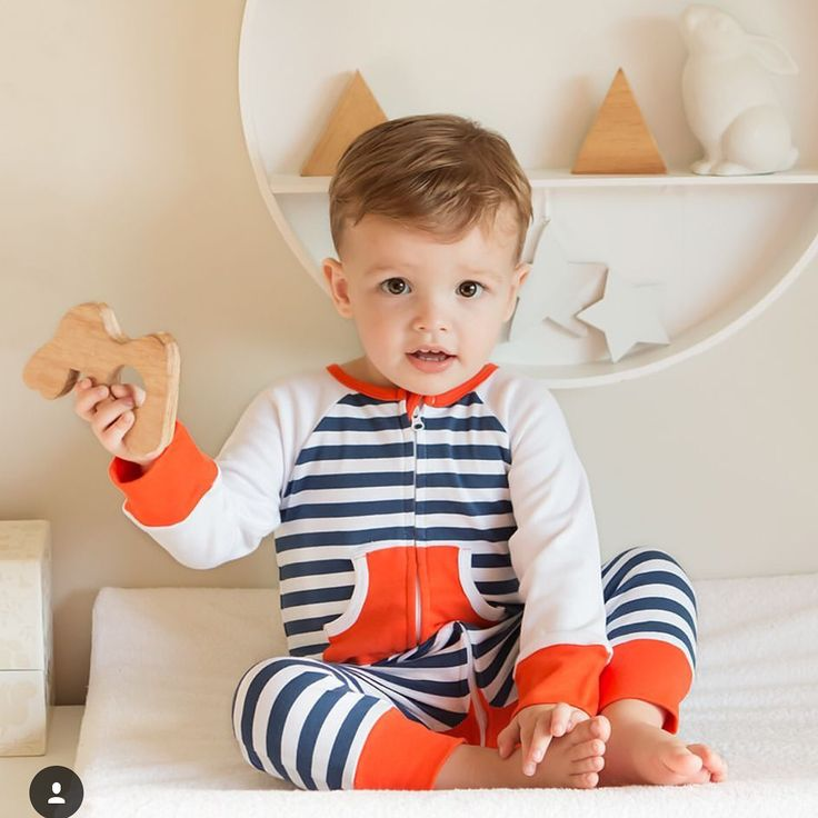 Stripe zip toddler pyjama