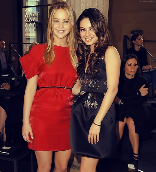 Jennifer Lawrence and Mila Kunis