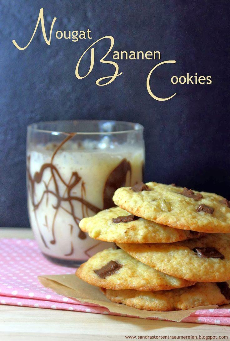 Ich werde zum Krümelmonster mit Nougat-Bananen-Cookies von Sandras Tortenträumereien