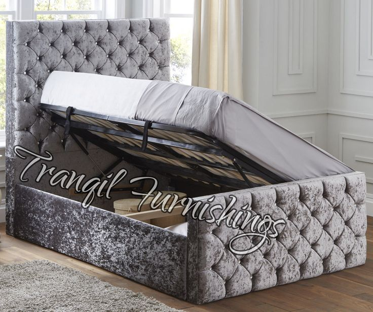 Paco storage side opening #ottoman bed #upholstered in velvet #double king size b, View more on the LINK: http://www.zeppy.io/product/gb/2/262624606669/