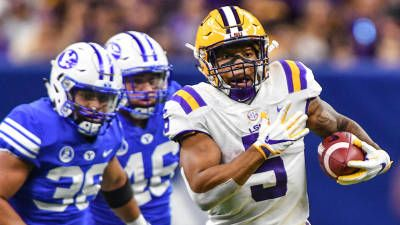 NEW ORLEANS -- No. 13 LSU dominated BYU in all phases of the game, winning the relocated 2017 Advocare Texas Kickoff late Saturday at the Mercedes-Benz Superdome in New Orleans.