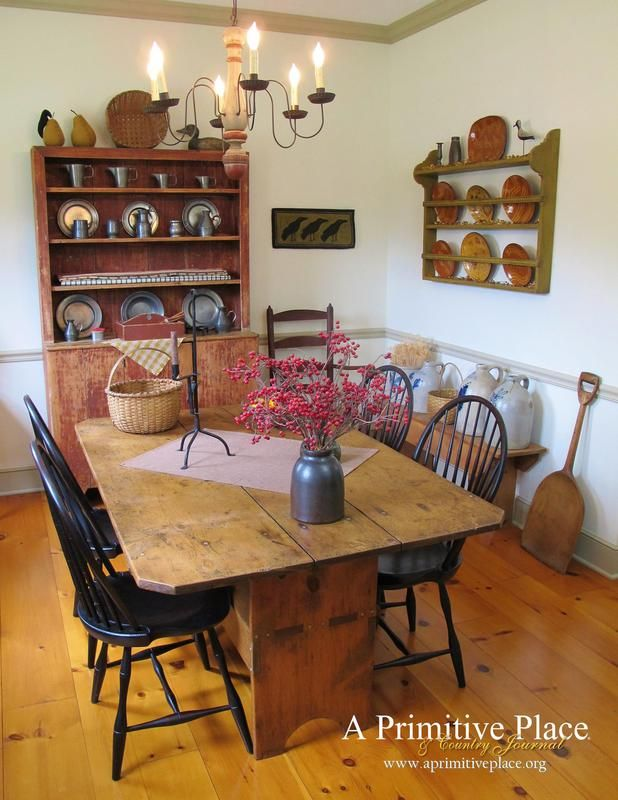 334 Best Primitive Dining Room Images On Pinterest  Primitive Captivating Primitive Dining Room Sets Inspiration