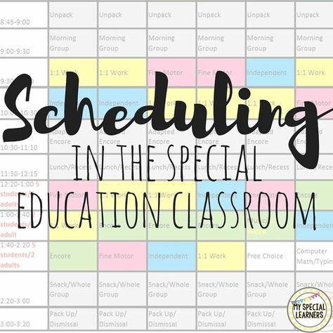 Need help putting together a schedule for your special education classroom? Look no further! Check out how I put mine together for my self contained c…