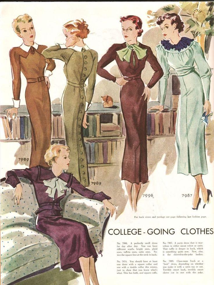1930年代の女性ファッション   RENOTE [リノート]