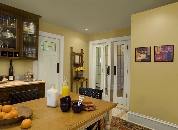 Yellow Kitchen paint color scheme from Benjamin Moore.