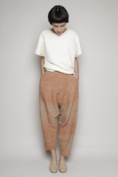 eggwhife:  Totokaelo - Anntian - Drop Crotch Pant - Brown/Beige
