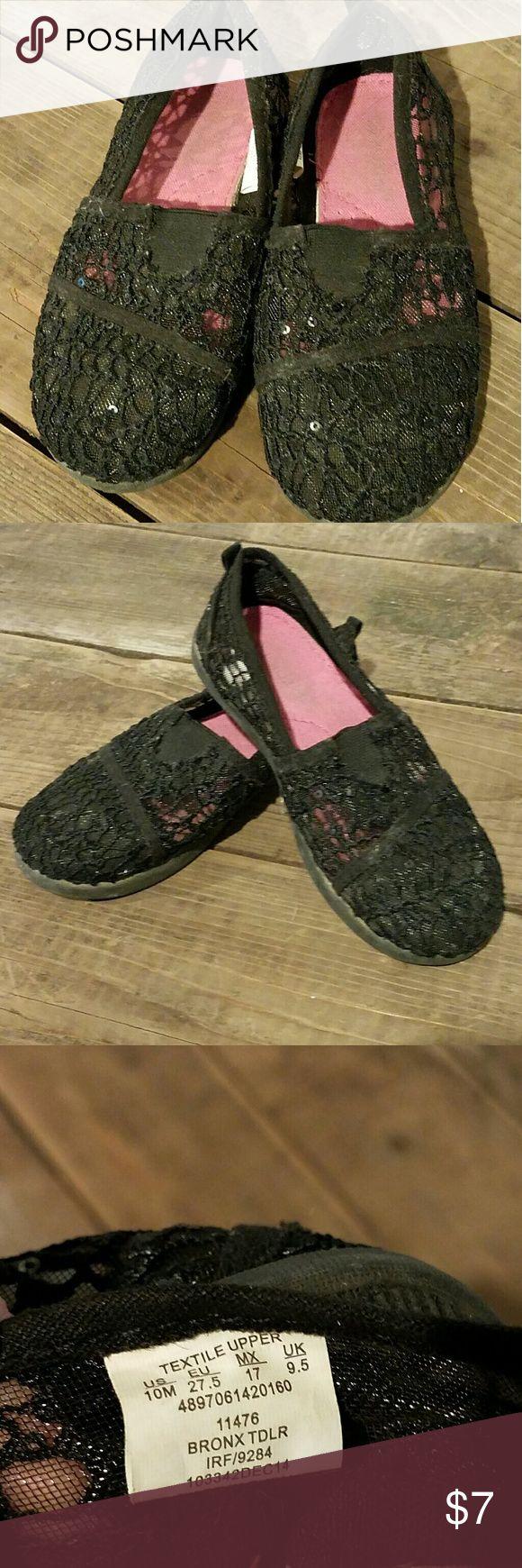 Joe Boxer Slip on Shoes Black Lace Girls Joe Boxer Slip on Shoes In good used condition Joe Boxer Shoes Moccasins