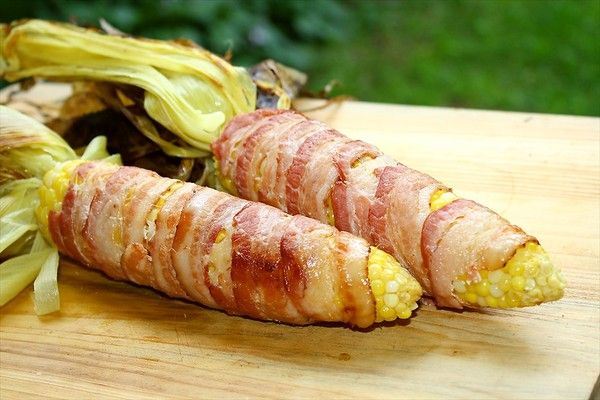 Bacon Wrapped Corn on the Cob | Dang Good Recipes | Pinterest