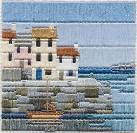 Derwentwater Silken Long Stitch Kit - SLS4 Fishermen's Cottages