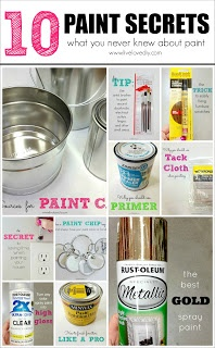 LiveLoveDIY: 10 Painting Tips & Tricks You Never Knew --- foil lined paint tray and soaking brushes in vinegar/hot water.