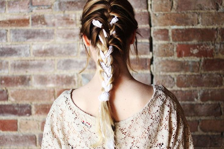 french braid with lace